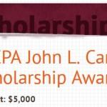 AICPA John L. Carey Scholarship-$5,000