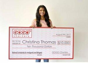 GoGo Charter scholarship winner